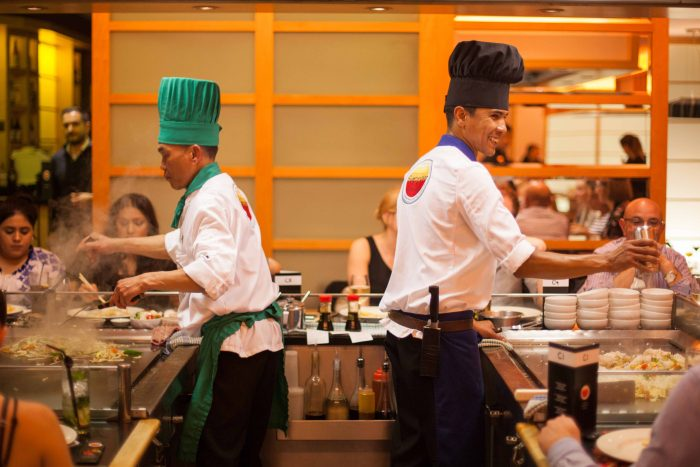 Master chefs at Sapporo Teppanyaki, one of the most well loved restaurants Merchant City Glasgow.